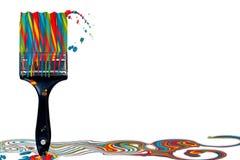 Paintbrush Candy-Cane Colors concept Stock Photo