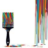 Paintbrush Candy-Cane Colors Stock Image