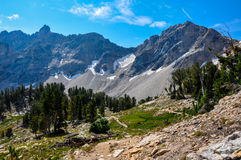 Paintbrush Canyon Trail in Grand Tetons National Park, Wyoming,. USA stock photo