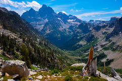 Paintbrush Canyon Trail in Grand Tetons National Park, Wyoming,. USA royalty free stock images