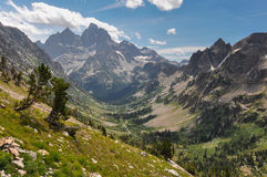 Paintbrush Canyon Trail in Grand Tetons National Park, Wyoming,. USA royalty free stock image