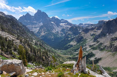 Paintbrush Canyon Trail in Grand Tetons National Park, Wyoming,. USA royalty free stock photography