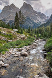 Paintbrush Canyon Trail in Grand Tetons National Park, Wyoming, royalty free stock images