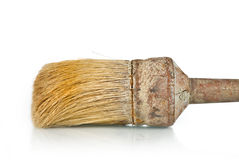 Paintbrush Closeup On White Stock Photography