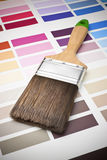 Paintbrush Color Chart Renovation Royalty Free Stock Photography