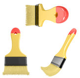 Paintbrush with curved bristle Royalty Free Stock Photos