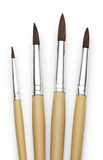 Paintbrush dla malarza odizolowywającego na białym tle Zdjęcia Stock