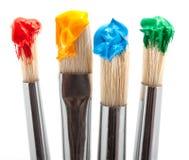 paintbrush för färg fyra Arkivbilder