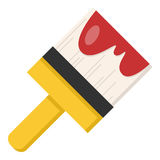 Paintbrush Flat Icon Isolated on White Stock Image