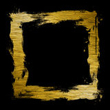 Paintbrush frame Stock Image