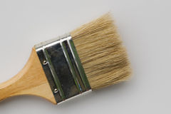 Paintbrush on gray Stock Images