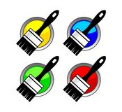 Paintbrush icon Stock Photography