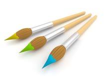 Paintbrush. isolated Stock Photography