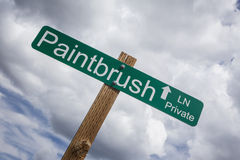 Paintbrush Lane, San Miguel County, Colorado, USA Royalty Free Stock Photo