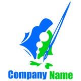 Paintbrush logo Stock Photo