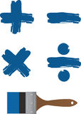 Paintbrush Math Symbols Royalty Free Stock Photo