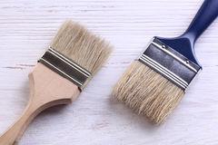 Paintbrush na bielu Fotografia Royalty Free