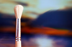 Paintbrush. New paintbrush with an abstract background Royalty Free Stock Image