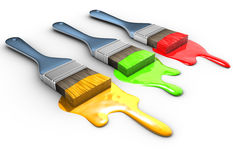 Paintbrush and paint vector illustration
