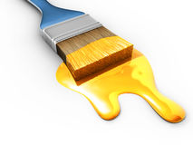 Paintbrush and paint Stock Photography