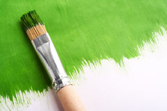 Paintbrush for paint. On gray background Stock Images