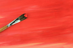 Paintbrush and Painted Background Royalty Free Stock Photo