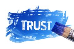 Painting trust word royalty free illustration