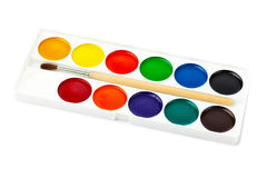 Paintbrush and paints Royalty Free Stock Photos