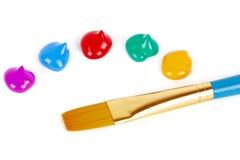 Paintbrush palette detail. Royalty Free Stock Photos