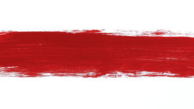 Paintbrush and Red Paint Stroke stock video footage