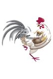 Paintbrush Rooster. Isolated artistic paintbrush vector illustration of a rooster Stock Photography