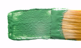 Paintbrush and stain Royalty Free Stock Photo