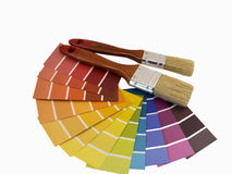 Paintbrush and swatches Stock Images