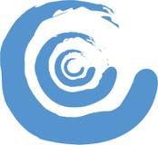 Paintbrush swirl. A paintbrush swirl vector design or spiral shape Stock Image