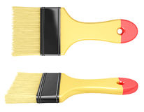 Paintbrush from two angles Royalty Free Stock Images