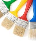 Paintbrush on white. Colorful paintbrush  on white background Royalty Free Stock Photos