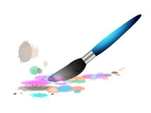 Paintbrush on white background Stock Image