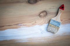 Paintbrush with white color stock images