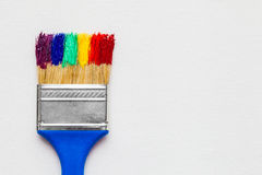 Free Paintbrush With Paint On White Canvas Stock Images - 70209254
