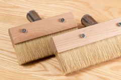 Paintbrush for wood Royalty Free Stock Images
