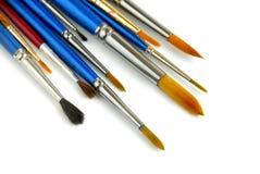 paintbrushes белые Стоковые Фотографии RF