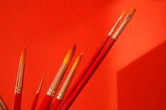paintbrushes группы Стоковая Фотография RF