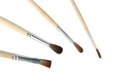Paintbrushes закрывают вверх Стоковая Фотография RF