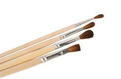 Paintbrushes закрывают вверх Стоковые Фотографии RF