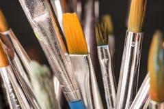 Paintbrushes закрывают вверх Стоковые Фото