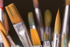 Paintbrushes закрывают вверх Стоковые Изображения RF
