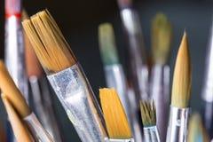 Paintbrushes закрывают вверх Стоковое Изображение RF