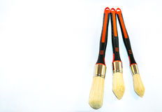 3 paintbrushes изолированного на белой предпосылке Стоковое фото RF
