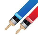 Paintbrushes при трассировка изолированная на белизне Бесплатная Иллюстрация