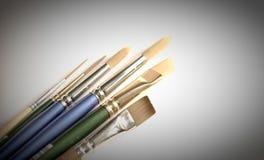 paintbrushes собрания стоковые изображения rf